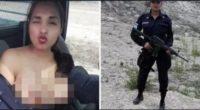 üstsüz polis selfie