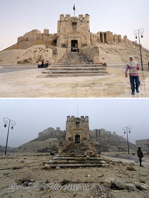 Savaş öncesi ve sonrası Halep